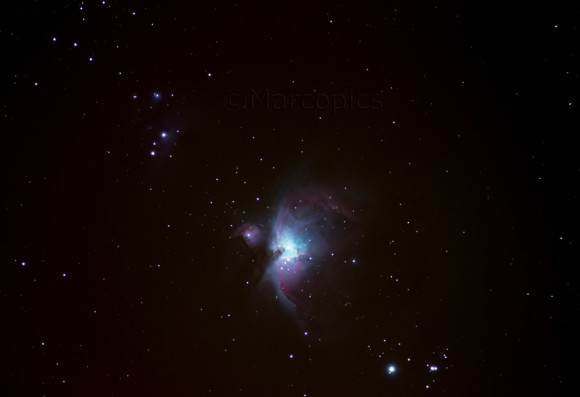 The Great Orion Nebula taken from Italy by Marco T.