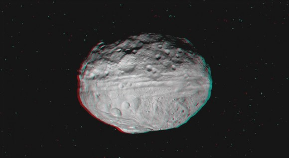 Vivid Vesta Vista in Vibrant 3 D from NASA's Dawn Asteroid Orbiter.  Vesta is the second most massive asteroid and is 330 miles (530 km) in diameter. Credit: NASA/JPL-Caltech/UCLA/MPS/DLR/IDA