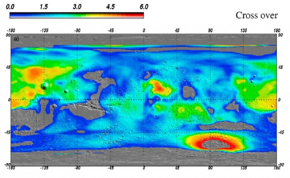 Global map of Water ice on Mars