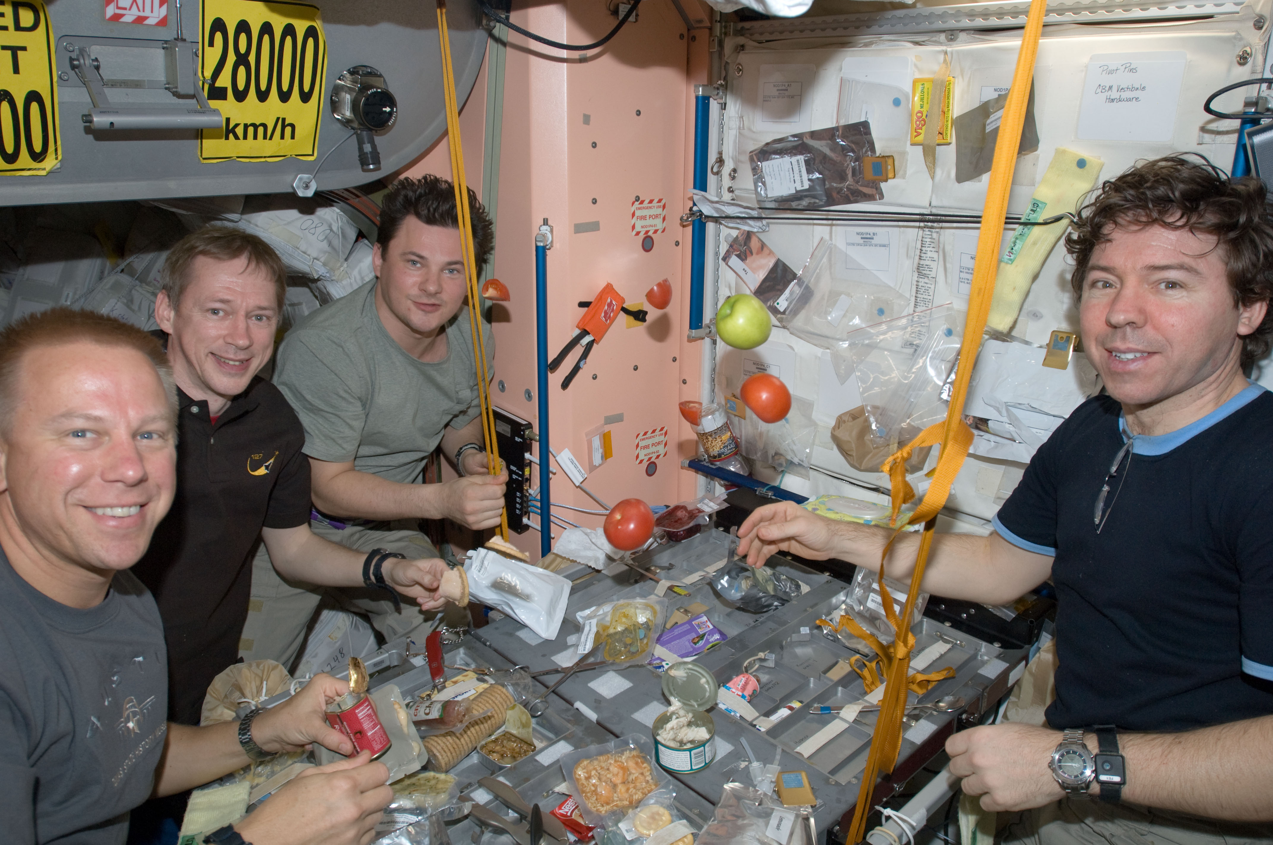 astronauts eating almonds in space - photo #15