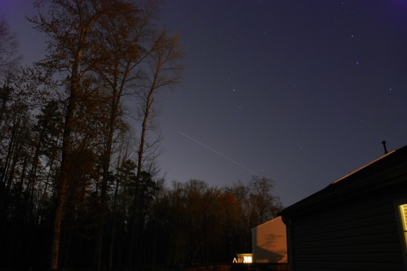 ISS Pass from North Carolina by Chris Loncar