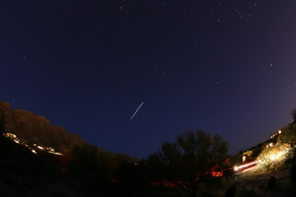 ISS as seen from Tucson, Arizona