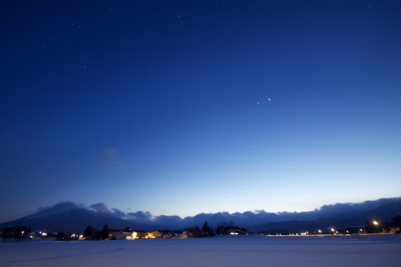 Venus and Jupiter Conjunction as seen from Japan by Jason Hill