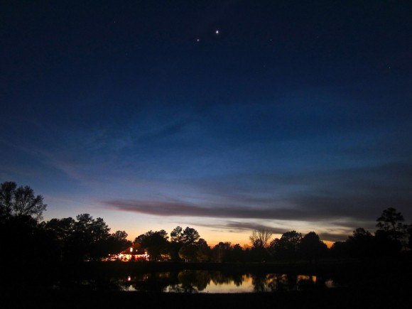 Venus and Jupiter at Twilight by Jacob Marchio