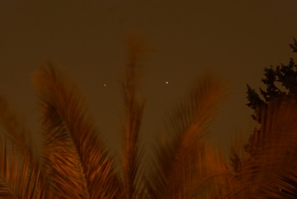 Venus and Jupiter from Israel by gadied