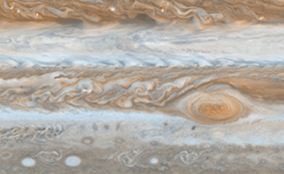 Jupiter's jet streams. Image credit: NASA/JPL/SSI