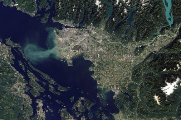 Fraser River seen from space