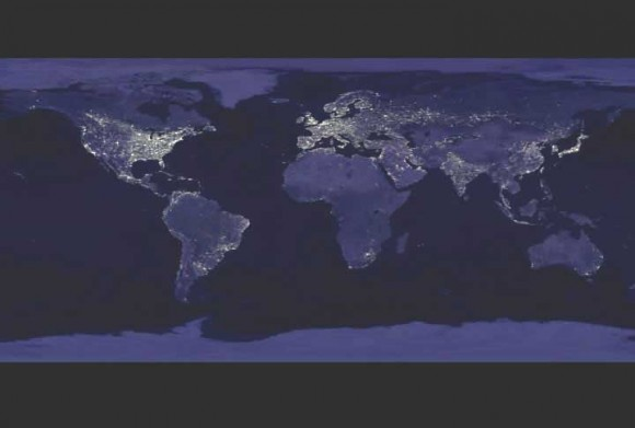 Earth at Night. Courtesy DMSP and NASA