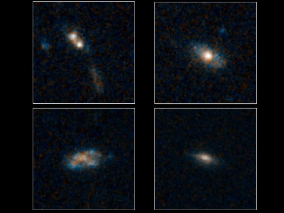 Faint quasars powered by black holes. Image credit NASA/ESA/Yale