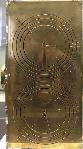 Replica Antikythera Based on the research of Professor Derek de Solla Price, in collaboration with the National Scientific Research Center Demokritos and physicist CH Karakalos. image by Marsyas via Wikimedia Commons