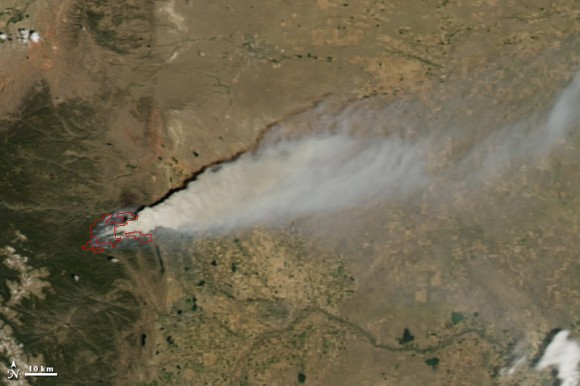 High Park Fire from NASA's Aqua MODIS