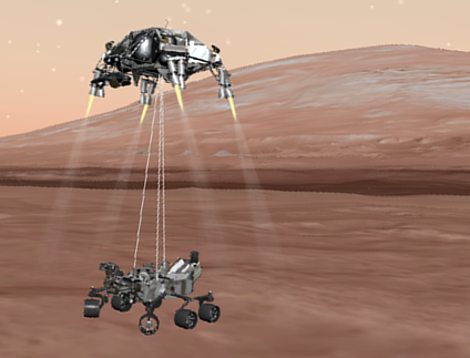 mars curiosity rover landing animation - photo #5