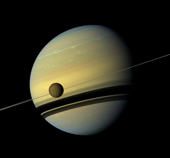 Saturn Rings Changing Color