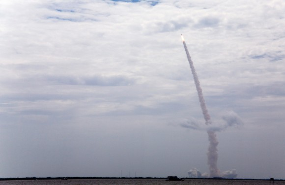 Atlantis lifts off for the last time. (Melanie Godecki)