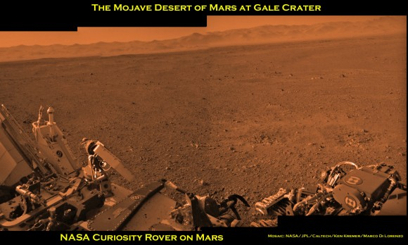 Curiosity and the Mojave Desert of Mars – Panorama from Gale Crater: www.universetoday.com/96708/curiosity-and-the-mojave-desert-of-mars...