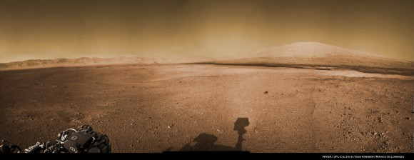 Curiosity Mount Sharp and Gale Crater sol 12_F5bc_Ken Kremer