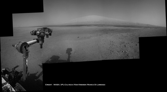 Curiosity aims at Mount Sharp Sol 14_3c_Ken Kremer