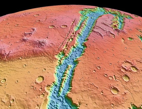 Valles Marineris NASA World Wind map Mars Credit NASA