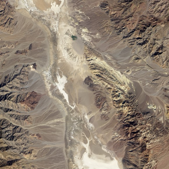 Badwater Basin in Death Valley National Park area from NASA's EO-1 satellite