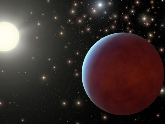 Artist&#039;s illustration of a planet within a cluster. Image credit: NASA/JPL-Caltech