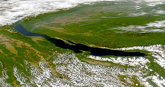 Lake Baikal Credit SeaWiFS Project NASA Goddard Space Flight Center and ORBIMAGE