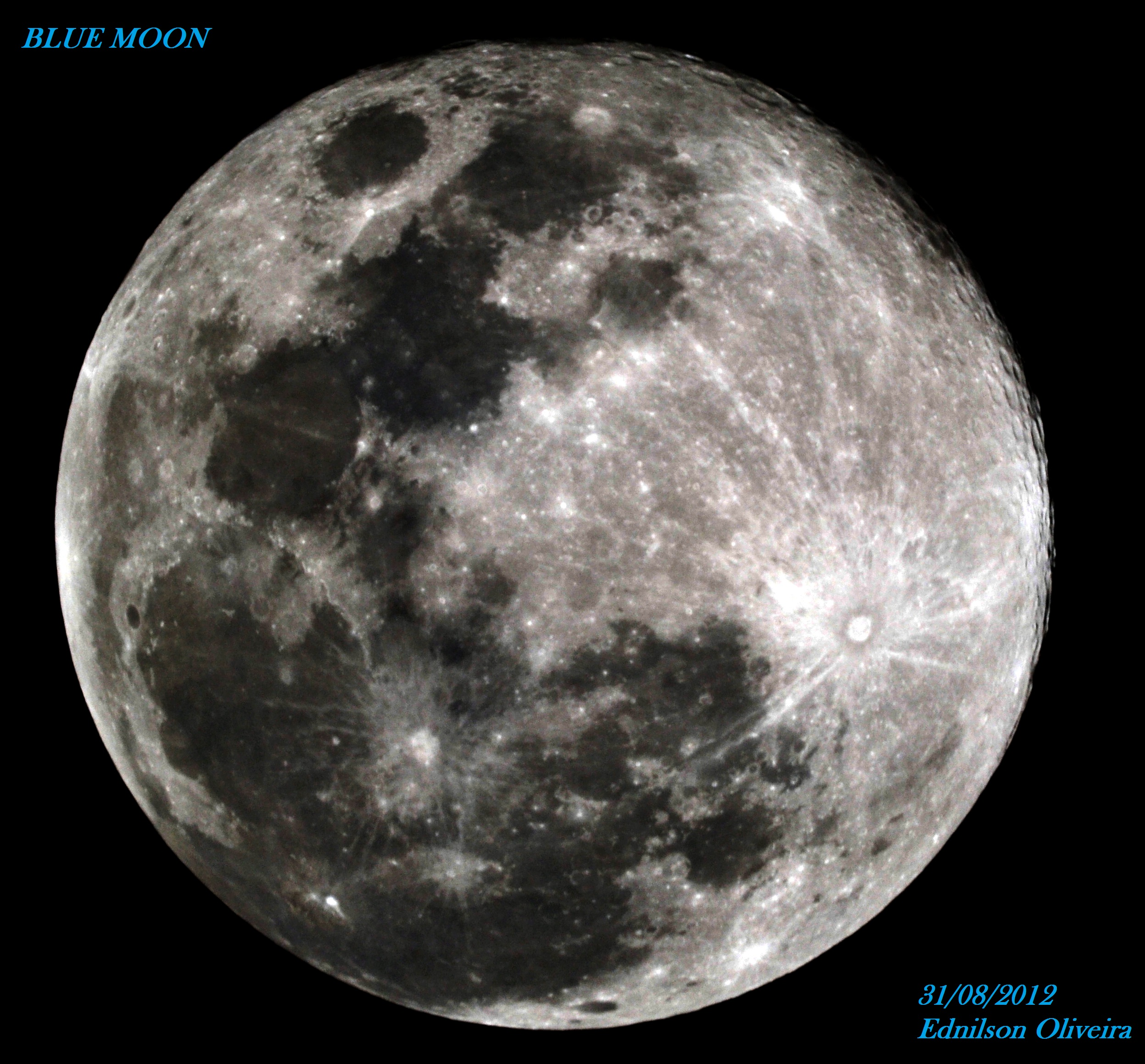 The Moon on 31/08/2012 – 23:15 TL – from São Paulo, Brazil ...