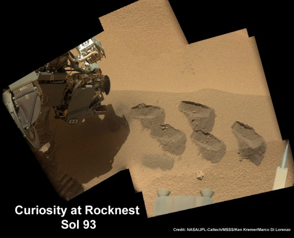 Cusiosity Sol 93_Aa_Rocknest scoops_Ken Kremer
