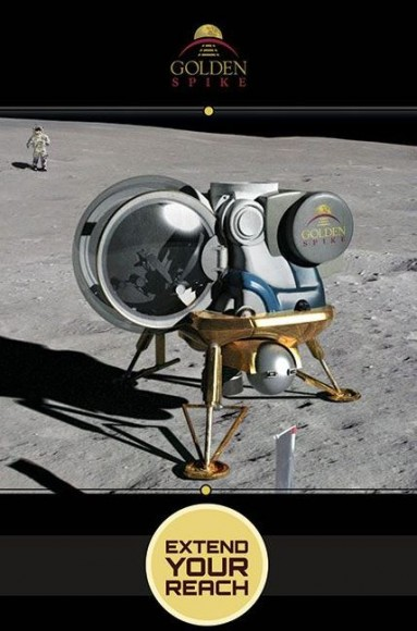 A proposed Golden Spike lunar lander on the Moon. Credit: Golden Spike Company 