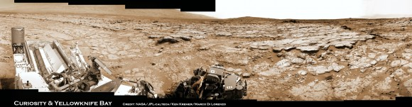 Curiosity &amp; Yellowknife Bay Sol 125_2c_Ken Kremer