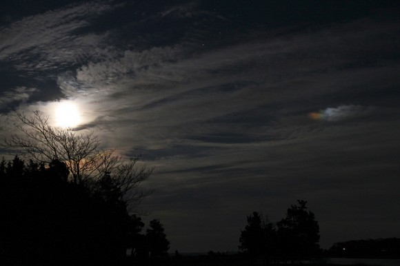 A Moondog, captured over Southport, New York in December 2011. Credit: Jeff Schultz