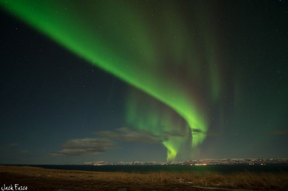 Northern Lights from Osar, Iceland 1-19-2013. Credit and copyright: Jack Fusco.