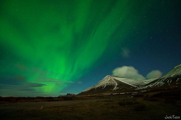 The Northern Lights fill the Icelandic Sky - 1-20-2013. Credit and copyright: Jack Fusco.