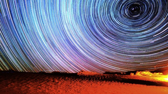 "Star trails from 'Death Valley Dreamlapse."" Credit: Gavin Heffernan/Sunchaser Pictures."