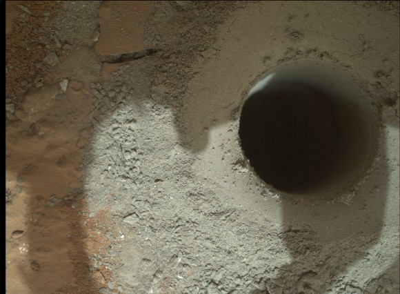 16mm To Inches >> Curiosity Drills Historic 1st Bore Hole into Mars Rock for First Ever Science Analysis