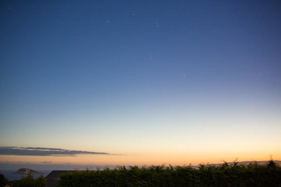 Comet PanSTARRS on feb. 22, 2013 from Dunedin, New Zealand. Credit: Dave Curtis.