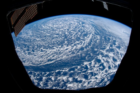 An Expedition 27 crewmember captured this cyclone over the north Pacific. Told you it's a good view. Credit: NASA