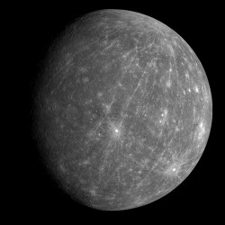A global view of Mercury, as seen by MESSENGER. Credit: NASA