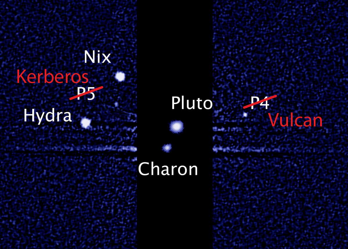 These may soon be the names of pluto s family of moons hubble image
