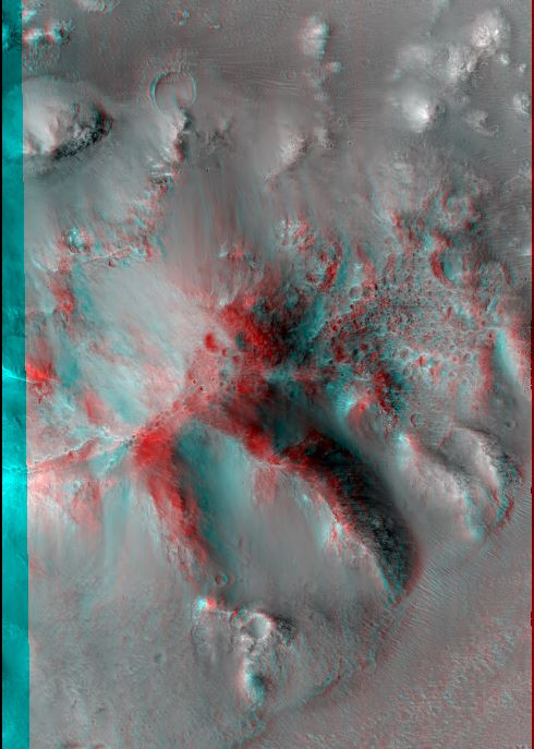 Central Uplift of a Large Impact Crater. Credit: NASA/JPL/University of Arizona.