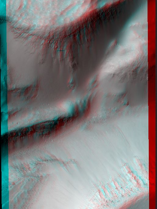 Possible Gullies in Graben. Credit: NASA/JPL/University of Arizona.