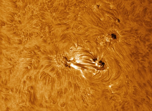 Sunspot 1678 in Hydrogen alpha light, taken on February 19, 2013. Credit and copyright: Paul Andrew.