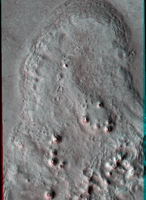 Flow Boundary in Elysium Planitia. Credit: NASA/JPL/University of Arizona.