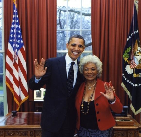President Obama & Nichelle Nichols (image credit: Nichelle Nichols).