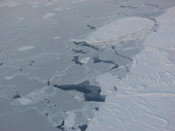 Sea ice in the southern Beaufort Sea. Credit: NASA