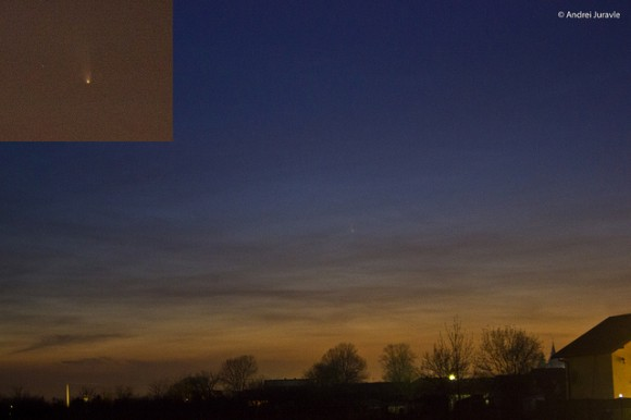 Comet PANSTARRS on March 17, 2013. Credit and copyright: Andrei Juravle. 