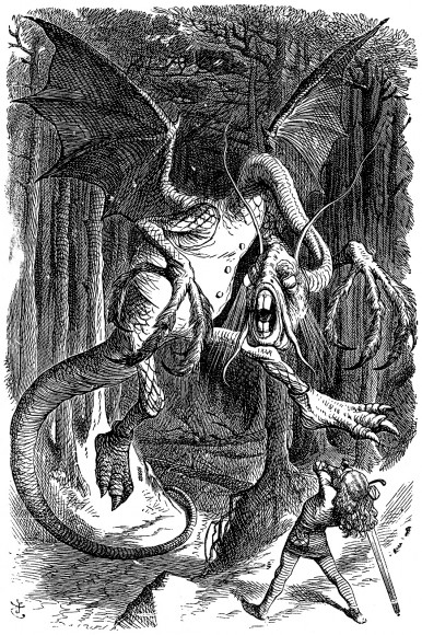 An illustration of the Jabberwocky first published in 1871. Credit: Public domain/Wikipedia