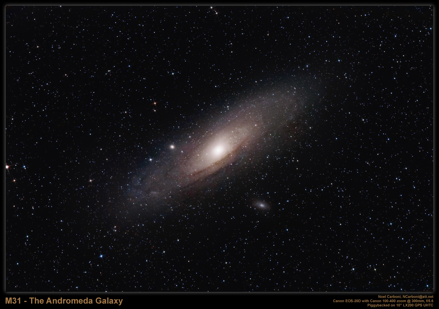 Andromeda Galaxy Through 8 Inch Telescope Pics About Space