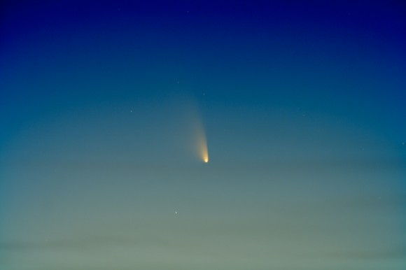 Comet PANSTARRS on March 14, 2013, as seen in the Arizona skies. Credit and copyright: Chris Schur.