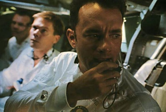 Apollo 13's dangerous explosion in 1970 inspired a movie, released in 1995, that starred (left to right) Bill Paxton, Kevin Bacon and Tom Hanks. Credit: Universal Pictures