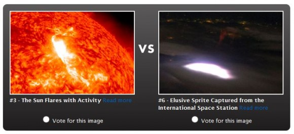 Screenshot of one of the competing images in the Earth Madness competition bracket.